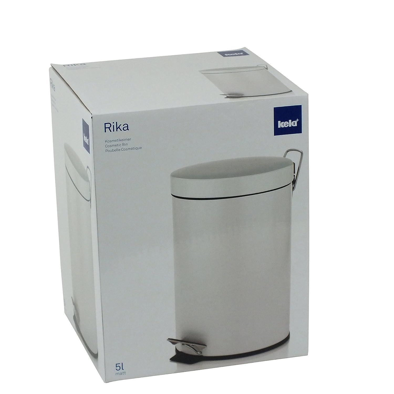 kela 20878 Rika color blanco metal, 5 L Papelera de ba/ño