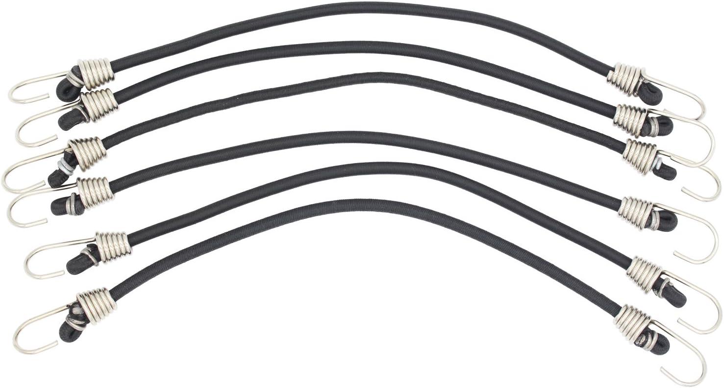 "Comtops Heavy Duty 6"" 100 PC Ball Bungee Canopy Tarp Tie Down Cord White Color Bonus 6 PK Mini Bungee Cord - -"