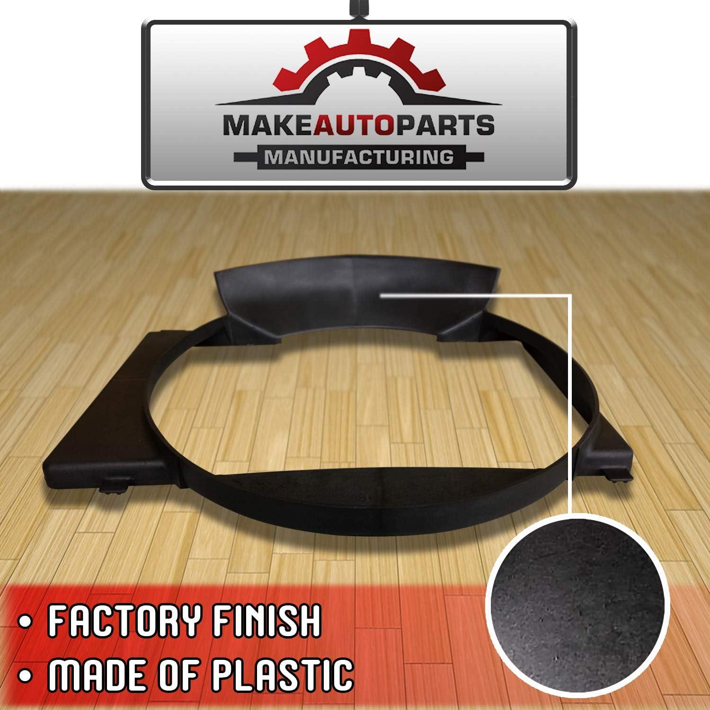 New Factory Finished Single Plastic Fan Shroud For Jeep Cherokee 1987-2001