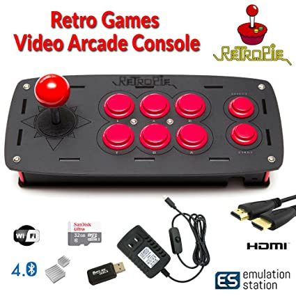 CrispConcept Retropie Raspberry Pi 3 Model B+ Based Arcade Retro Gaming  Emulation Console - 32GB Edition