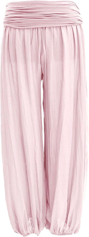 TEXTURE Ladies Women Italian Lagenlook Plain Viscose Boho Harem Ali Baba Trouser Pants Joggers One Size