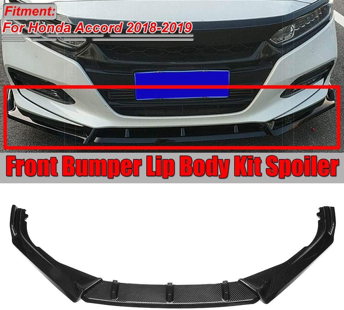 MotorFansClub 3pcs Front Bumper Lip for Honda FIT JAZZ 2015 2016 2017 Splitter Trim Protection Spoiler Black