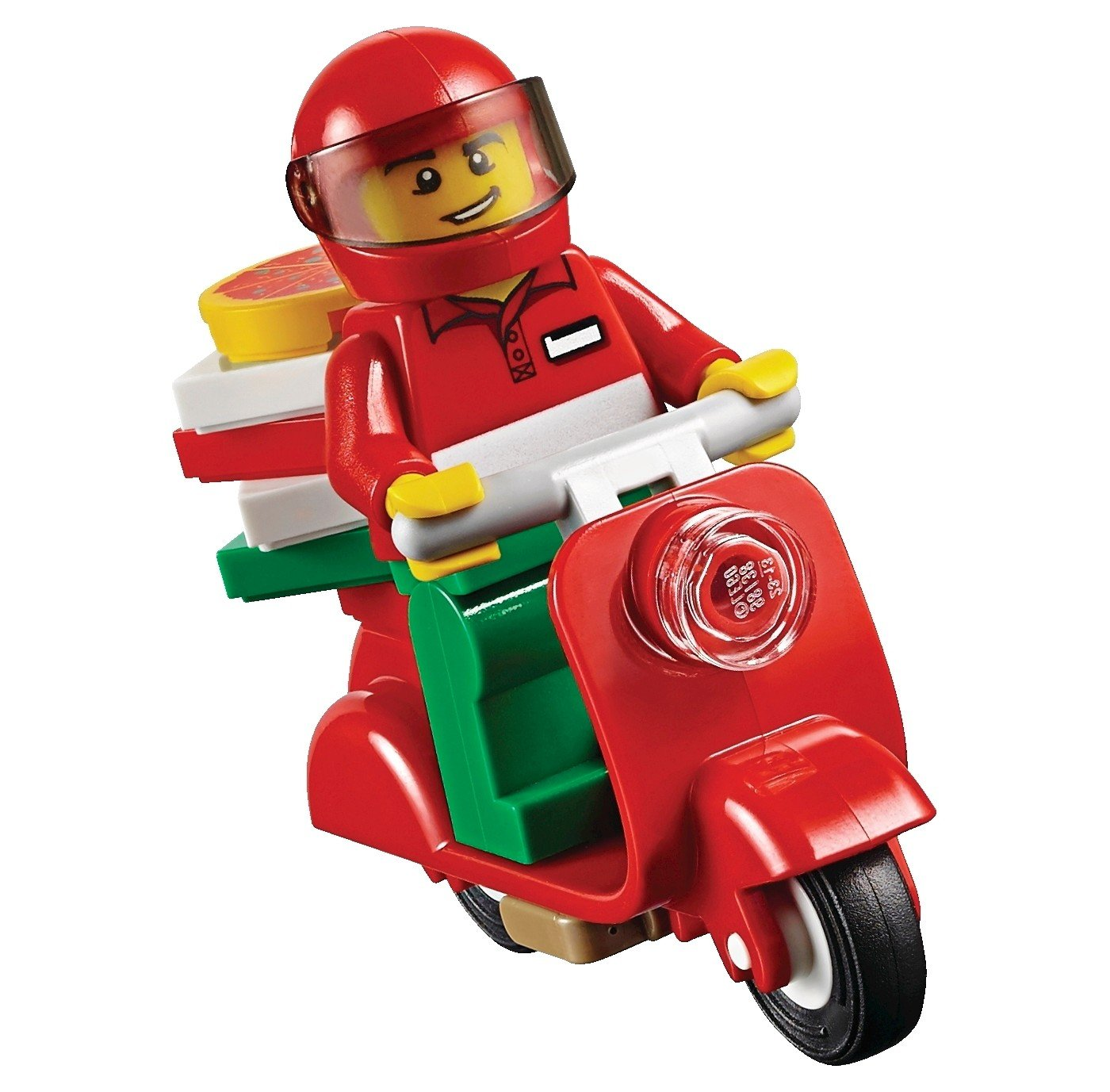 Tall City Delivery >> Lego City Minifigure Pizza Delivery Guy W Scooter Pizza Box 60150