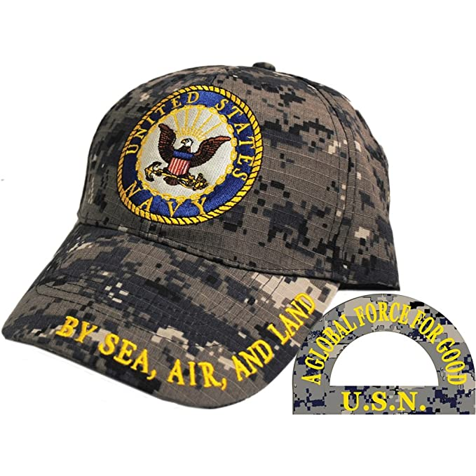 United States Navy Logo Digital Camo Hat Cap USN at Amazon Men s ... 38067986d26