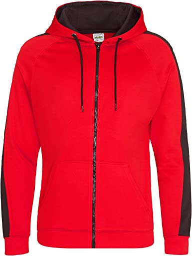 """AWD Kids Unisex Red Zip Hoodie /""""Zoodie/"""" Lowest Price on FREE Delivery"""
