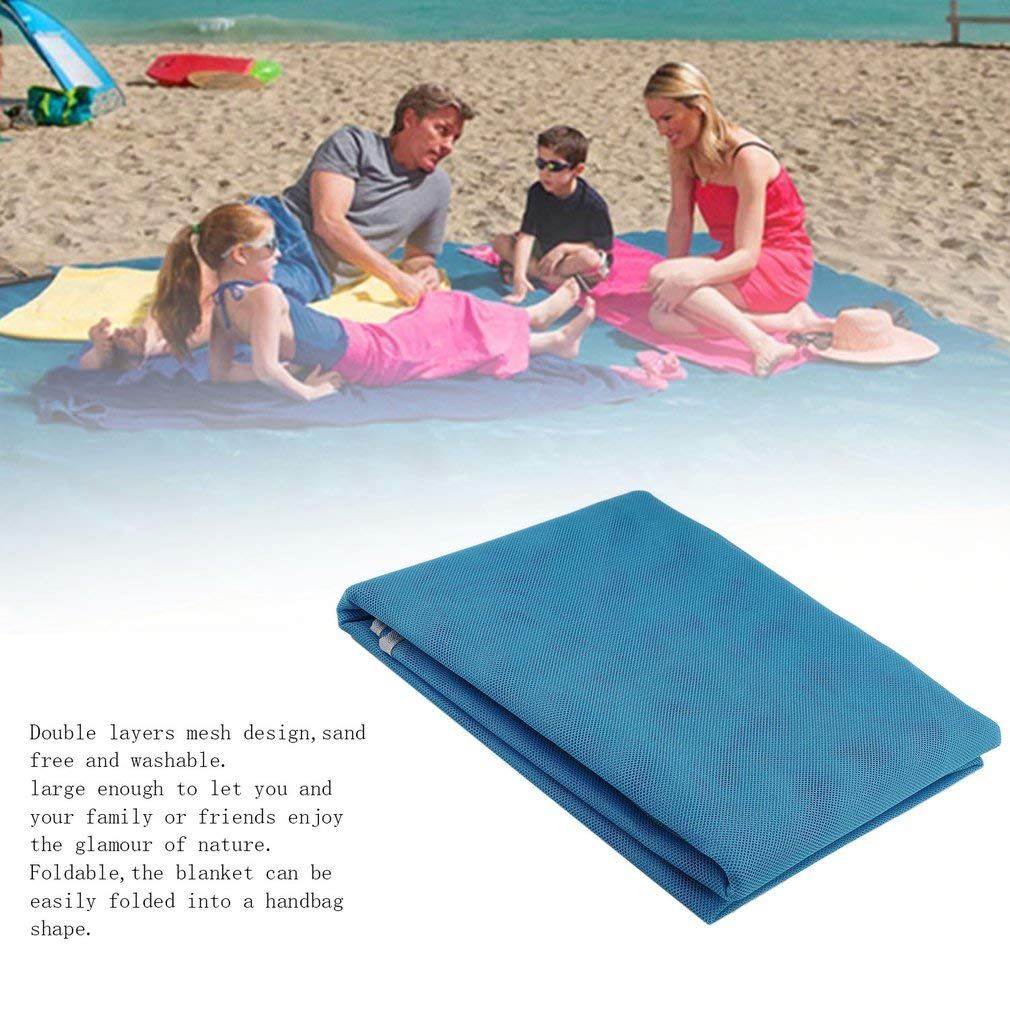 YTYC Outdoor Travel Beach Mat Foldable Mesh Blanket 1.5x2m Picnic Camping by YTYC