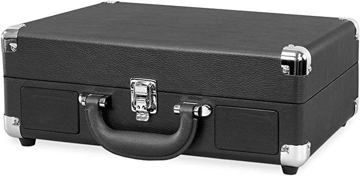 Victrola Suitcase Tocadiscos en maleta Vintage Bluetooth - Negro ...