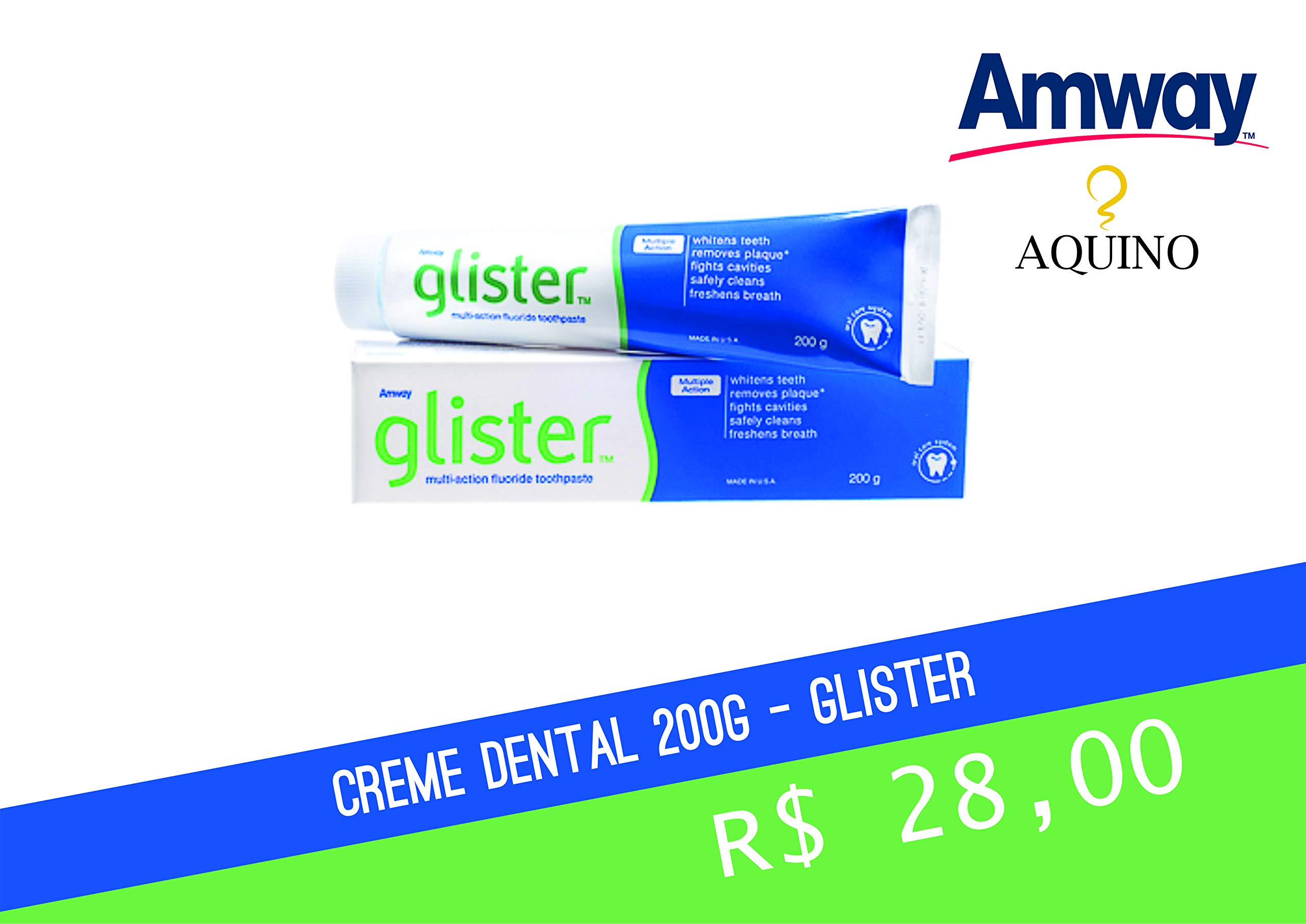 Amway 2 x GLISTER MULTI-ACTION FLUORIDE TOOTHPASTE