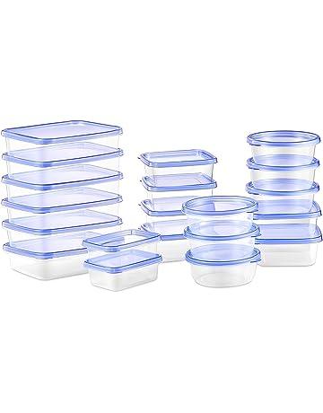 Deik Set de Recipientes para alimentos con tapa, Conjunto apilable de 20 Piezas, Sin