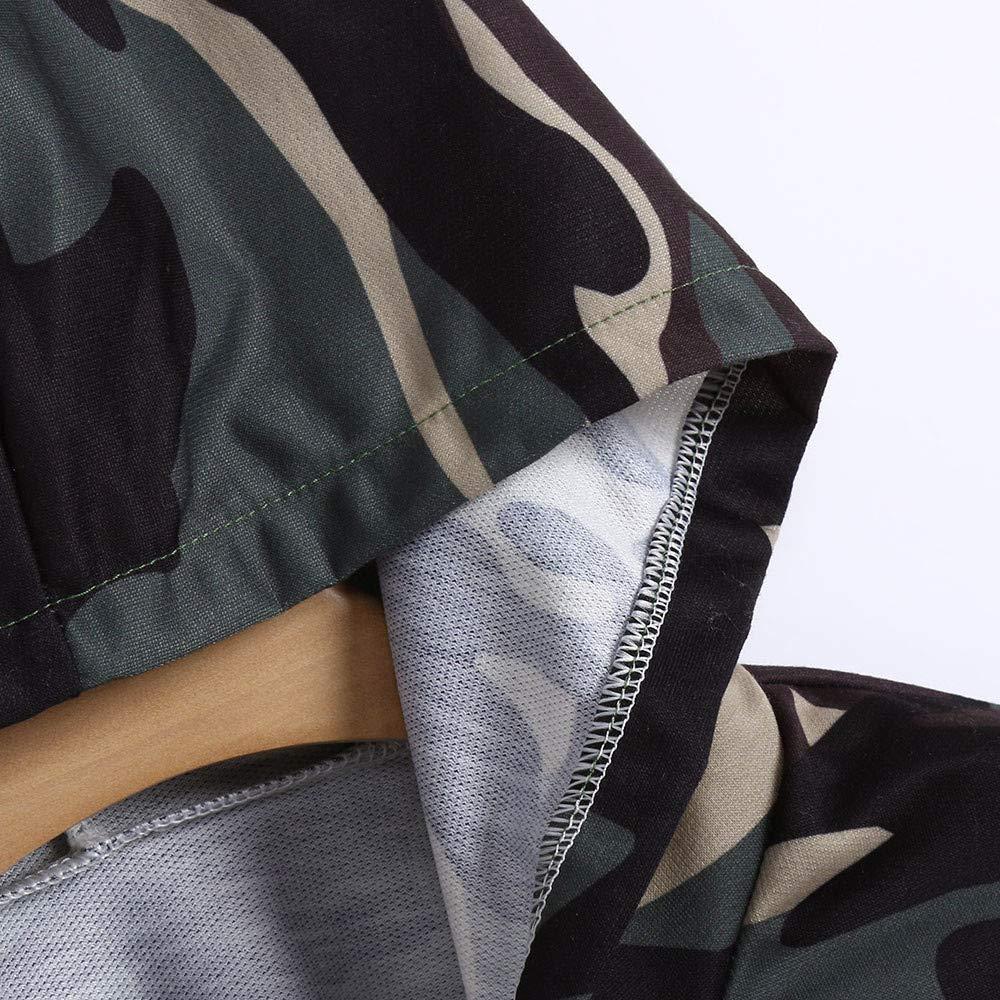 VJGOAL Mujer Otoño E Invierno Camisa con Estampado de Camuflaje de Moda Camisa de Manga Larga con Capucha Sudadera Corta Abrigo(XL: Amazon.es: Ropa y ...