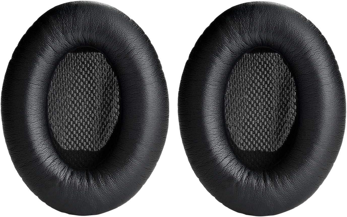 Yizhet Almohadillas de reemplazo Cojines Espuma Protector Almohadillas Reemplazo Cojín de Oído Compatible con Bose Quietcomfort 2,QC15,QC25,QC35, Around Ear 2 AE2,AE2i,AE2w
