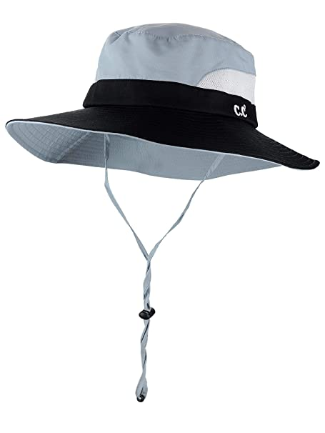 ab0d5319 C.C Safari Sun Hat Wide Brim Hat with Ponytail Hole Packable UPF 50+ for  Hiking