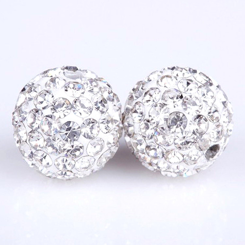 Shamballa pendiente Pulsera Collar Conjunto Cristal Disco Ball Bola de cristal gema del Reino Unido