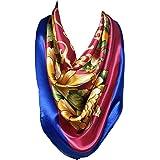 VEKDONE Womens Vintage Bandanas Neckerchief Satin Silk Feeling Formal Square Neck Scarf Head Hair Wraps Headscarf