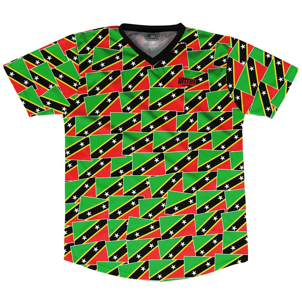 Ultras Saint Kitts and Nevis Party Flags Soccer Jersey
