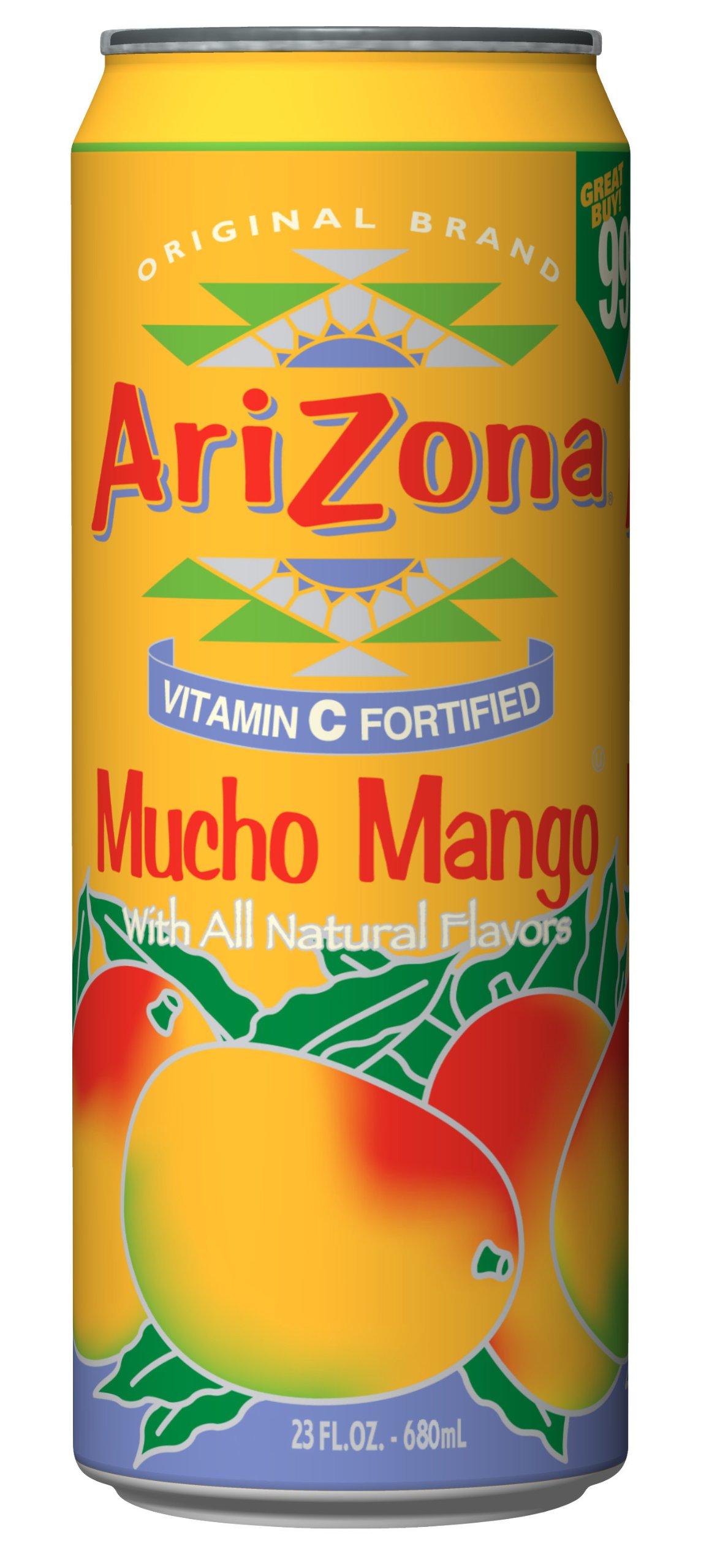 Arizona Mucho Mango, 23-Ounce (Pack of 24) by Arizona
