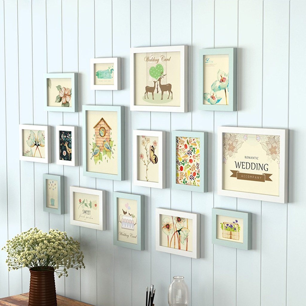 ZYANZ Pine Free Combination Photo Frame, Simple Photo Wall, Estimated Frame Area 142 × 74cm