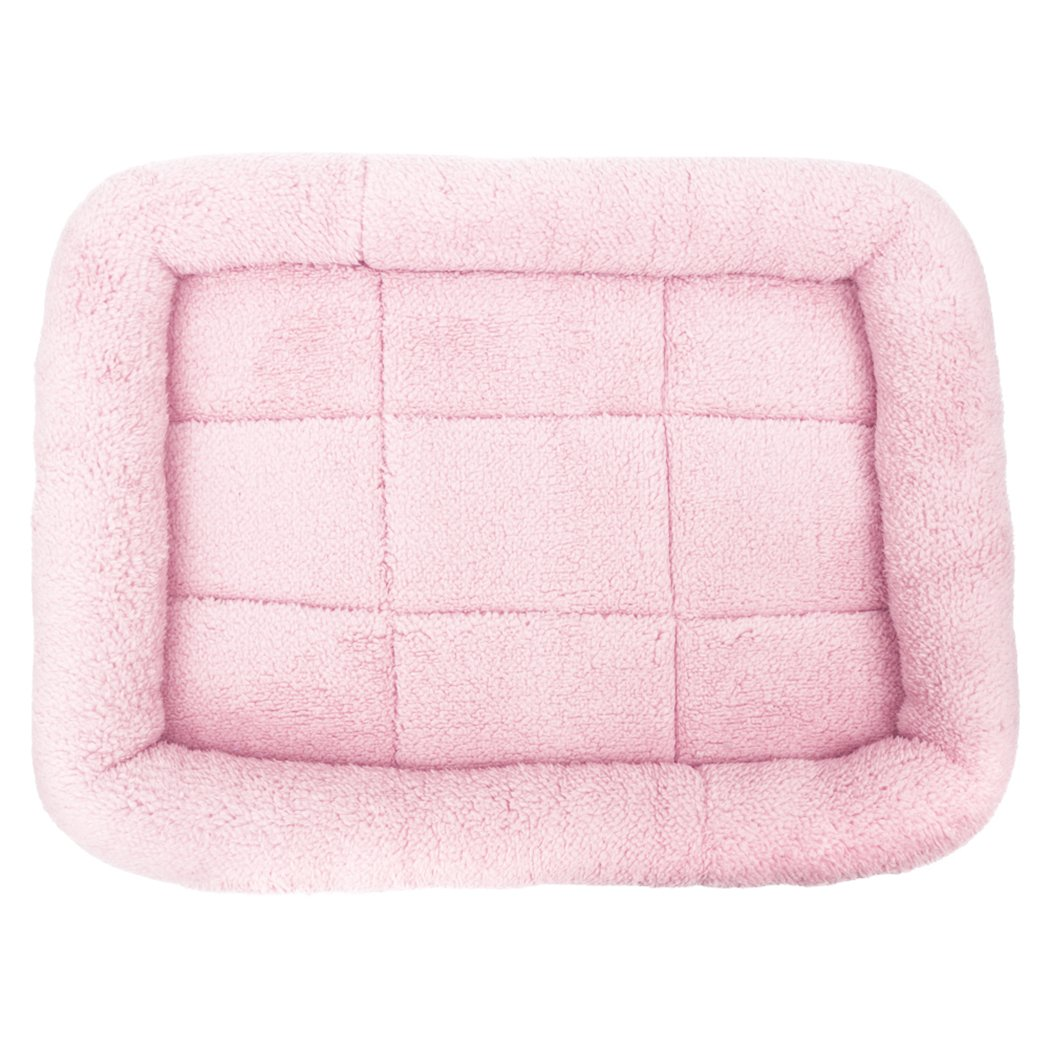 Legendog Pet Bed, Washable Plush Pet Bolster Bed for Car Home Pet Cushion with Edge