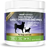 Digestive Enzymes For Pets - Veterinarian Approved - Contains 9 High Potency Enzymes - 100% Vegetarian Based - Scent Free - Powder Enzyme - For Dogs and Cats