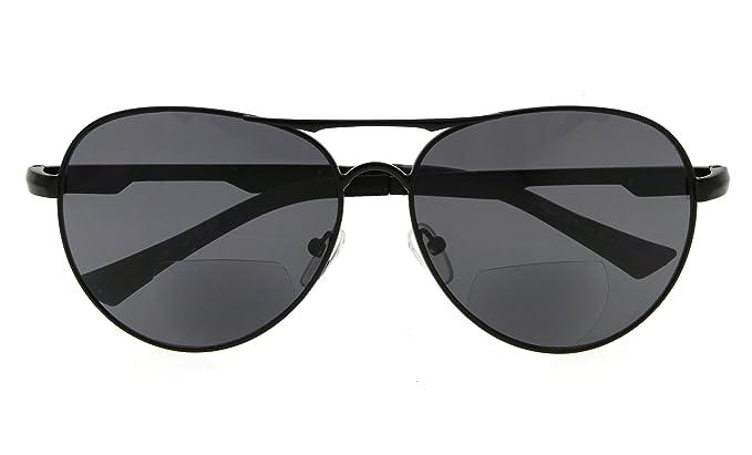 74ce3365f5e Polarized Bifocal Sunglasses Pilot Style Bifocal Polarised Reading Glasses  Black +1.50