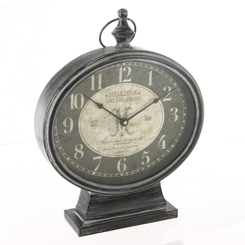 Pendule à poser en métal - style vintage: Amazon.fr: Cuisine & Maison