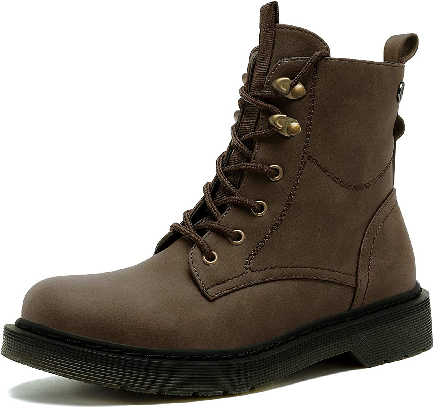 DREAM PAIRS Women's Combat Lace Up Ankle Boots