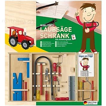 Kinder Werkzeugkasten Laubsäge-Set 20-tlg Kinderwerkzeug Anleitung Bau- & Konstruktionsspielzeug-Sets