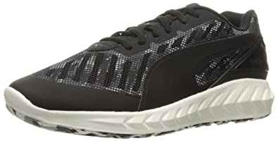 PUMA Men's Ignite Ultimate Cam Running Shoe, Black/Periscope, ...