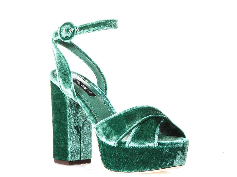 Dolce & Gabbana Sandales à Plateforme à en Gabbana Velours Vert & - Code Modèle: CR0450 A4195 8H526 Vert 2ba5d54 - automaticcouplings.space