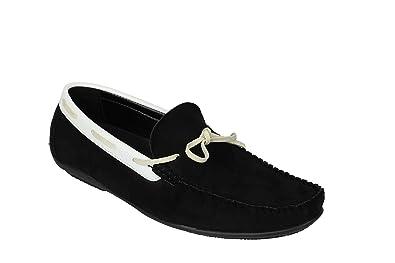 62af431ede2 Men Black Brown Blue Faux Suede Leather Smart MOD Moccasin Slip On Driving  Shoes PVC