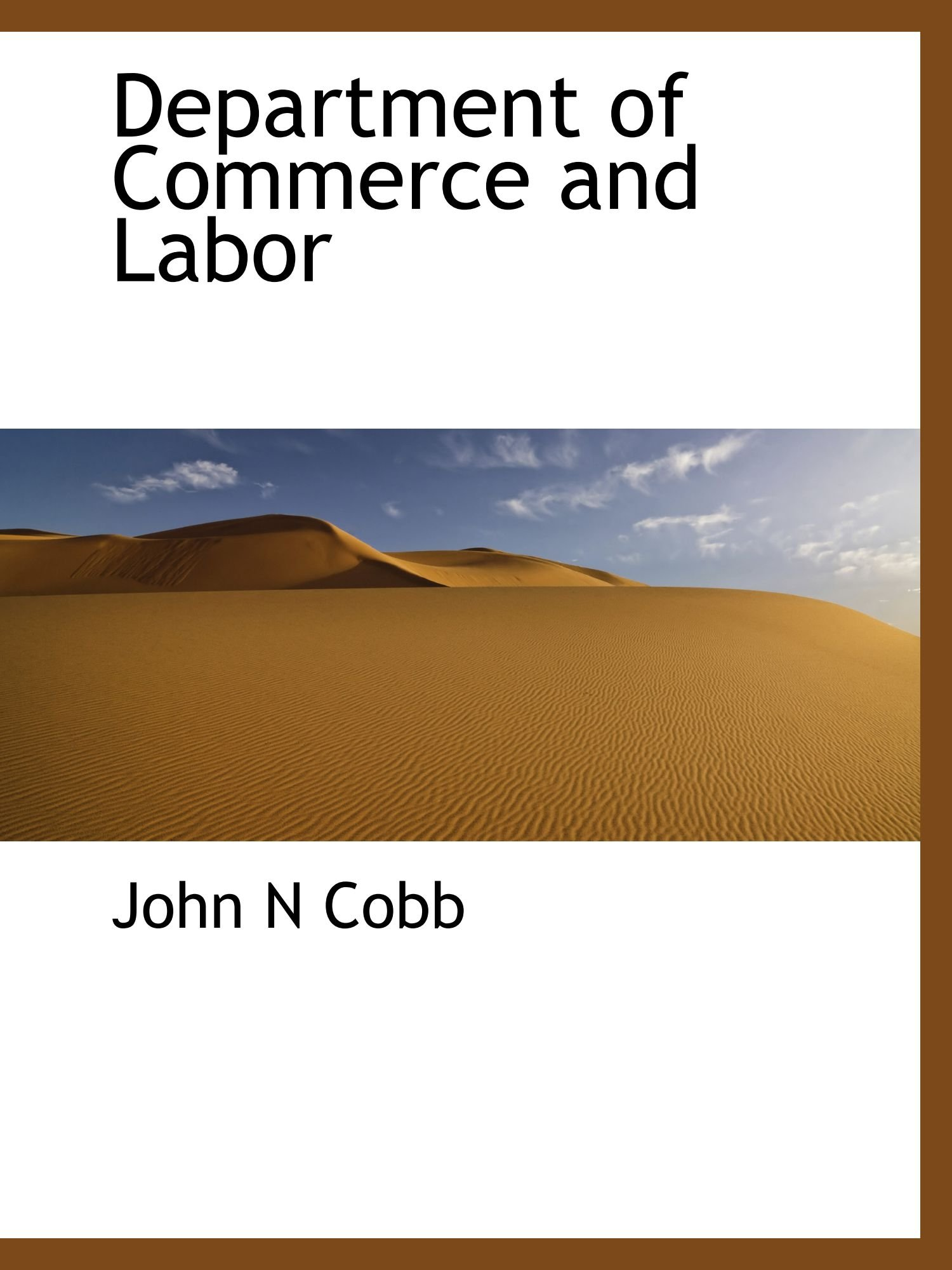 Department of Commerce and  Labor ebook