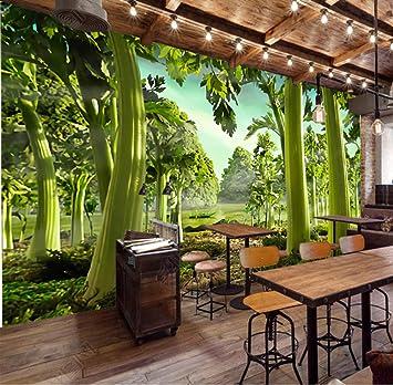 Fondo de pantalla mural Apio pintado a mano Green Forest Restaurant Supermercado Fondos de sala de estar Fondo de pantalla impermeable: Amazon.es: Bricolaje y herramientas