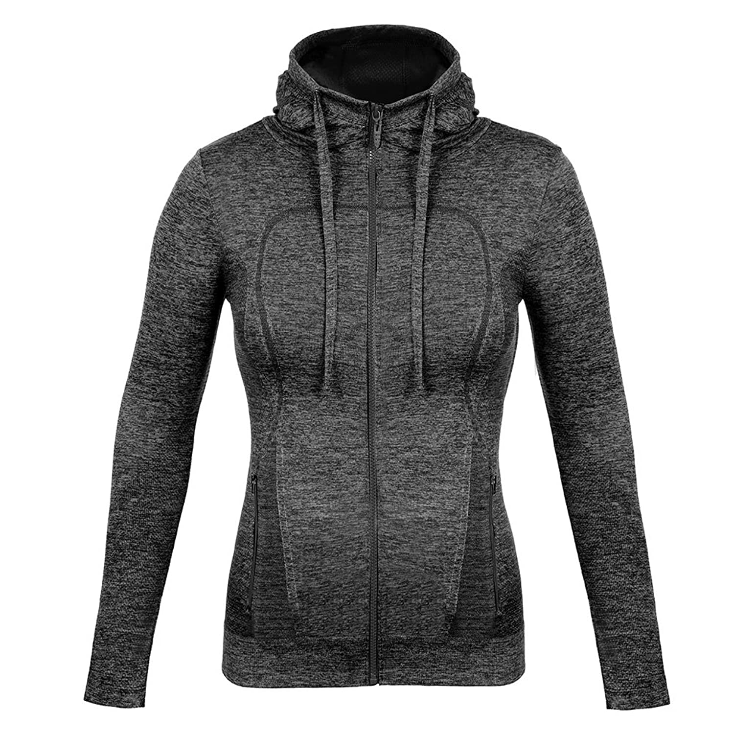 Fitibest Women's Yoga Running Jackets Full Zip Activewear Coat with Thumb  Holes Fitness Sports Blazer Hoodie