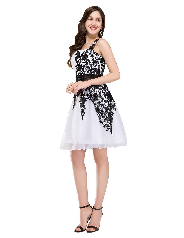 weiß brautjungfernkleid knielang elegant sommer festliches kleid ...