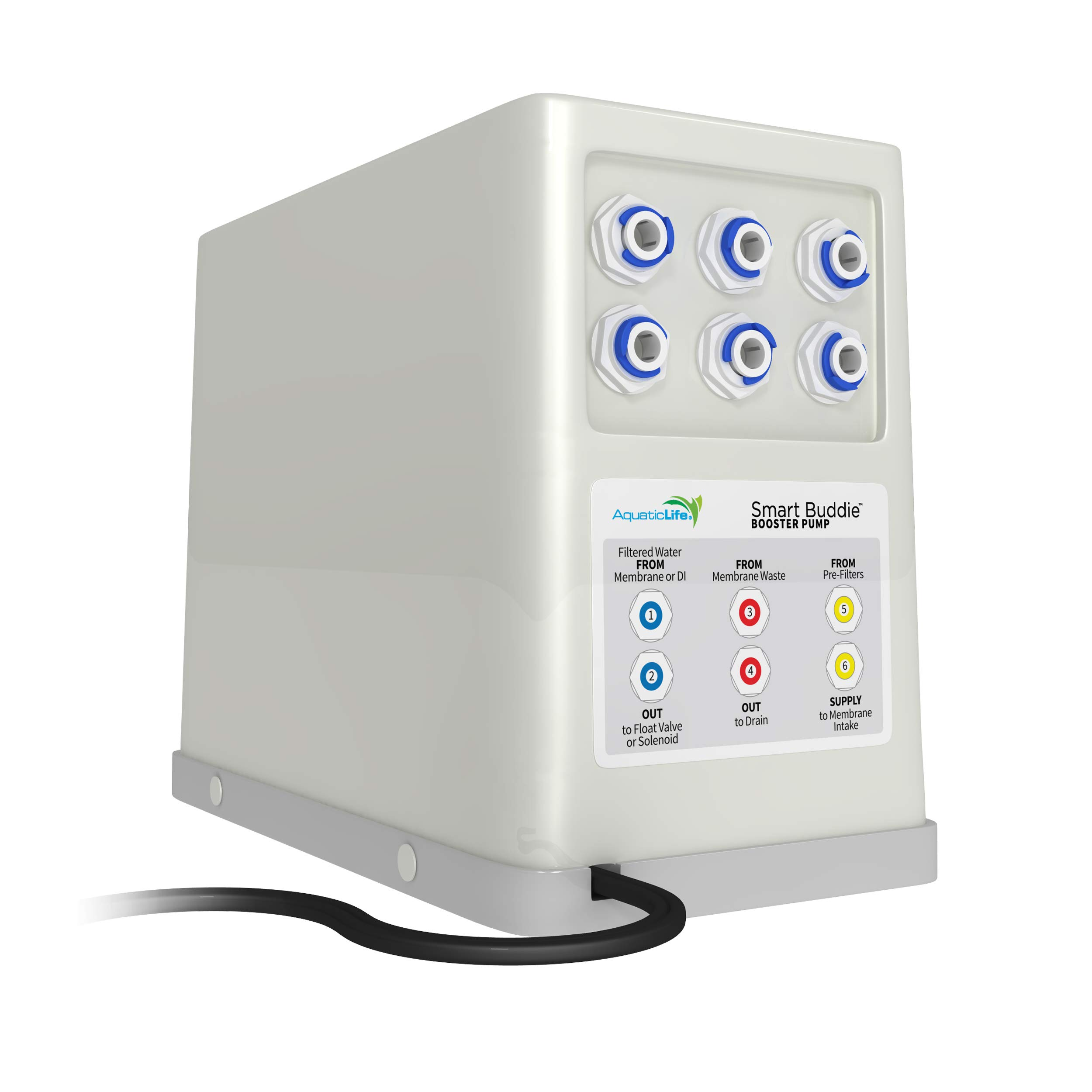 AQUATICLIFE Smart Buddie Booster Pump for 50-100 GPD Reverse Osmosis Systems