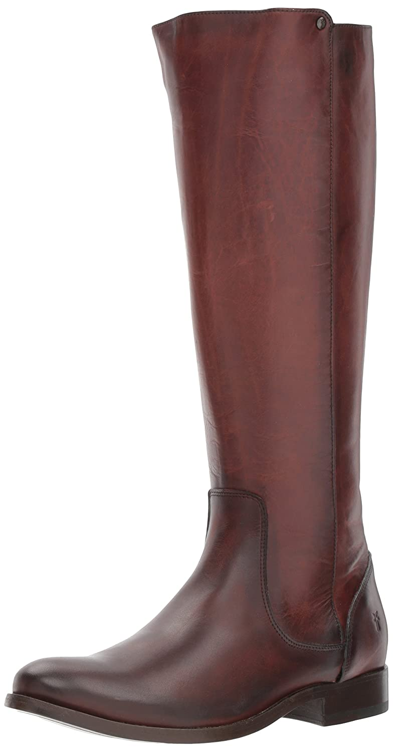 FRYE Women's Melissa Stud Back Zip Riding Boot B06VSCFX79 6 B(M) US|Redwood