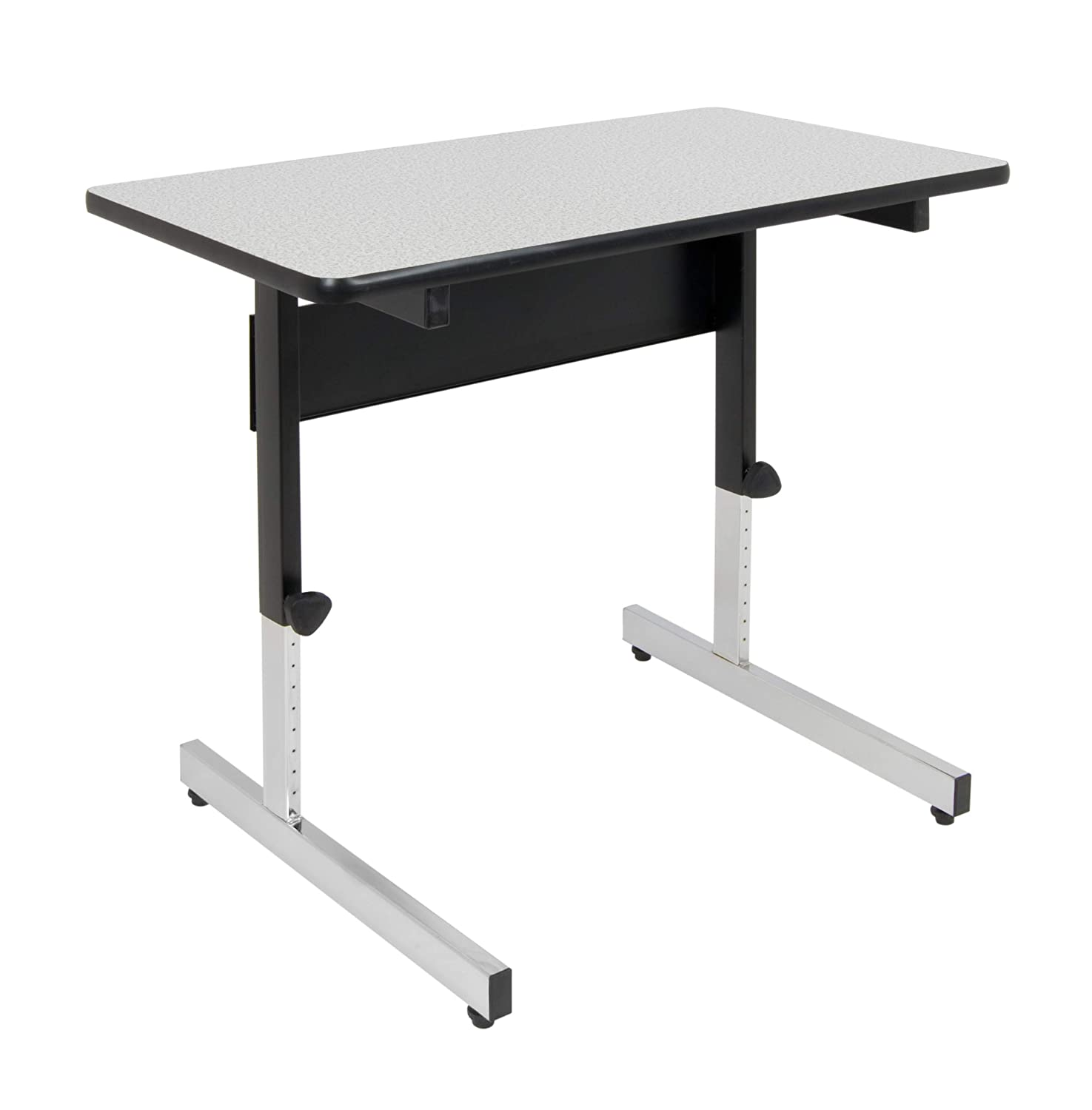 "Calico Designs 410381.0 Adapta Table, 36"", Black/Spatter Gray"