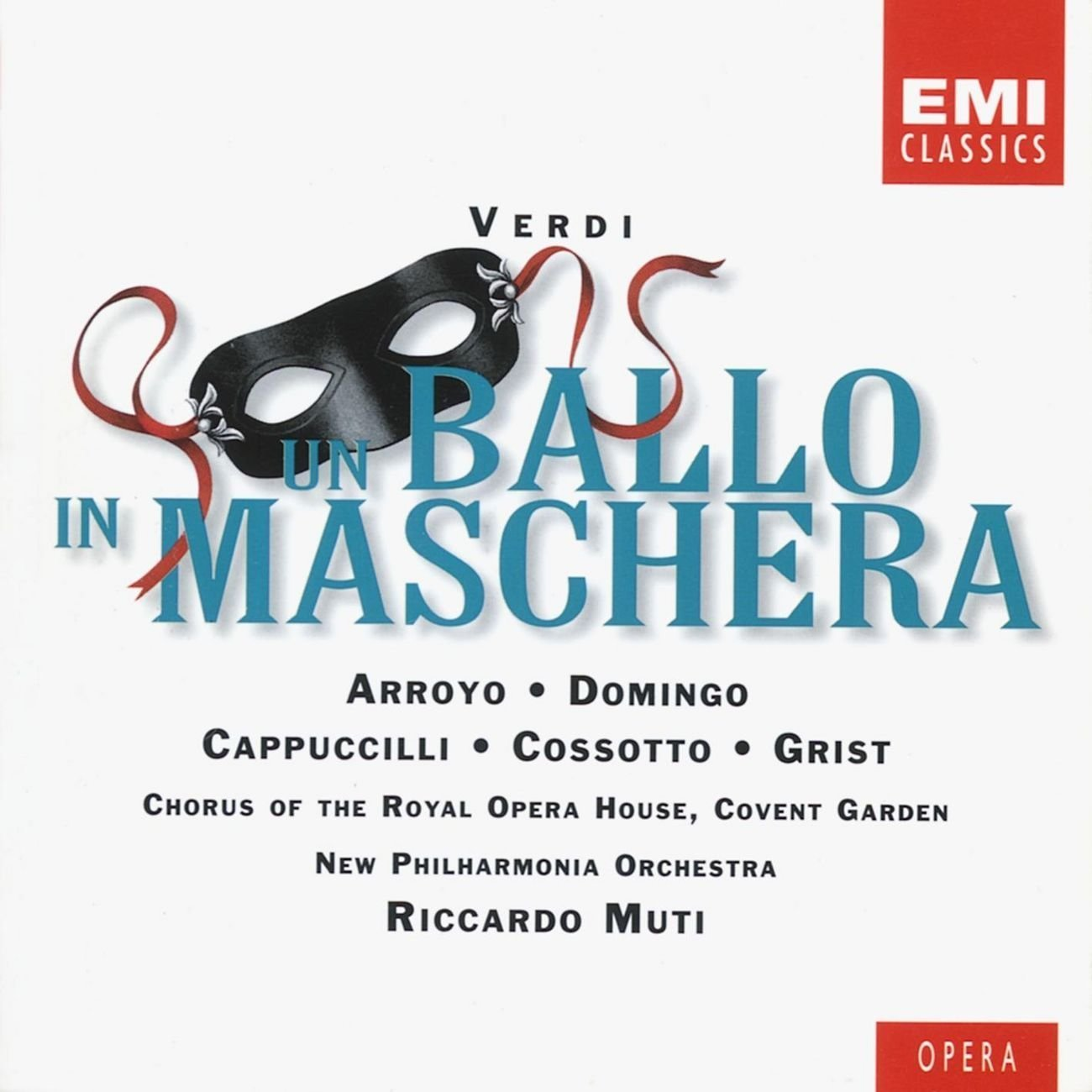 Giuseppe Verdi: Un Ballo in Maschera (A Masked Ball) [With Complete Italian Libretto and English Translation] [Martina Arroyo, Reri Grist, Fiorenza Cossotto, Placido Domingo, Piero Cappuccilli, Gwynne Howell, Richard Van Allan; New Philharmonia Orchestra; Chorus of the Royal Opera House, Covent Garden; Riccardo Muti]