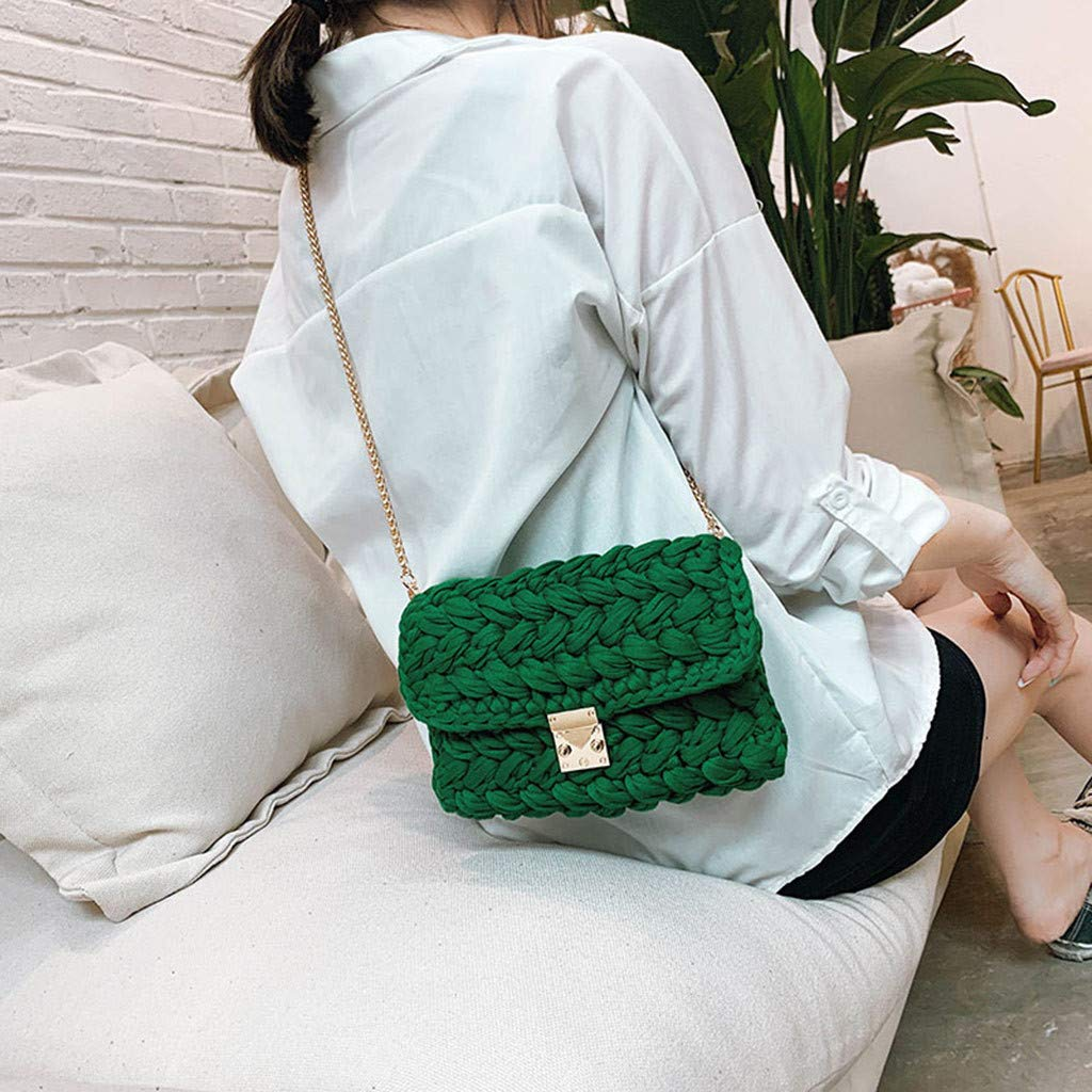 Ladies Travel Weekender Shoulder Bag Women Bag Woven Colorful Bag Texture Wild Explosions Handbags Fashion Messenger by Chiccc (Image #5)