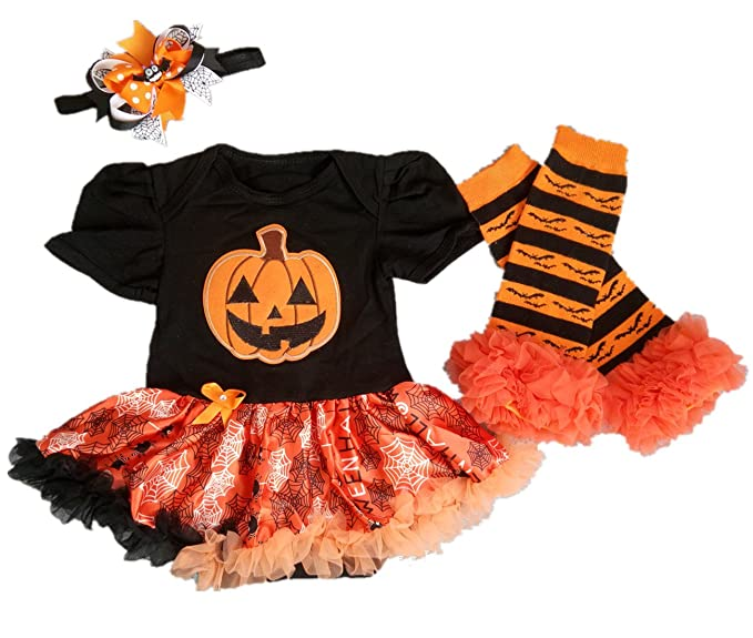 aishiony baby girl 1st halloween costumes tutu outfit newborn onsie dress 3pc s