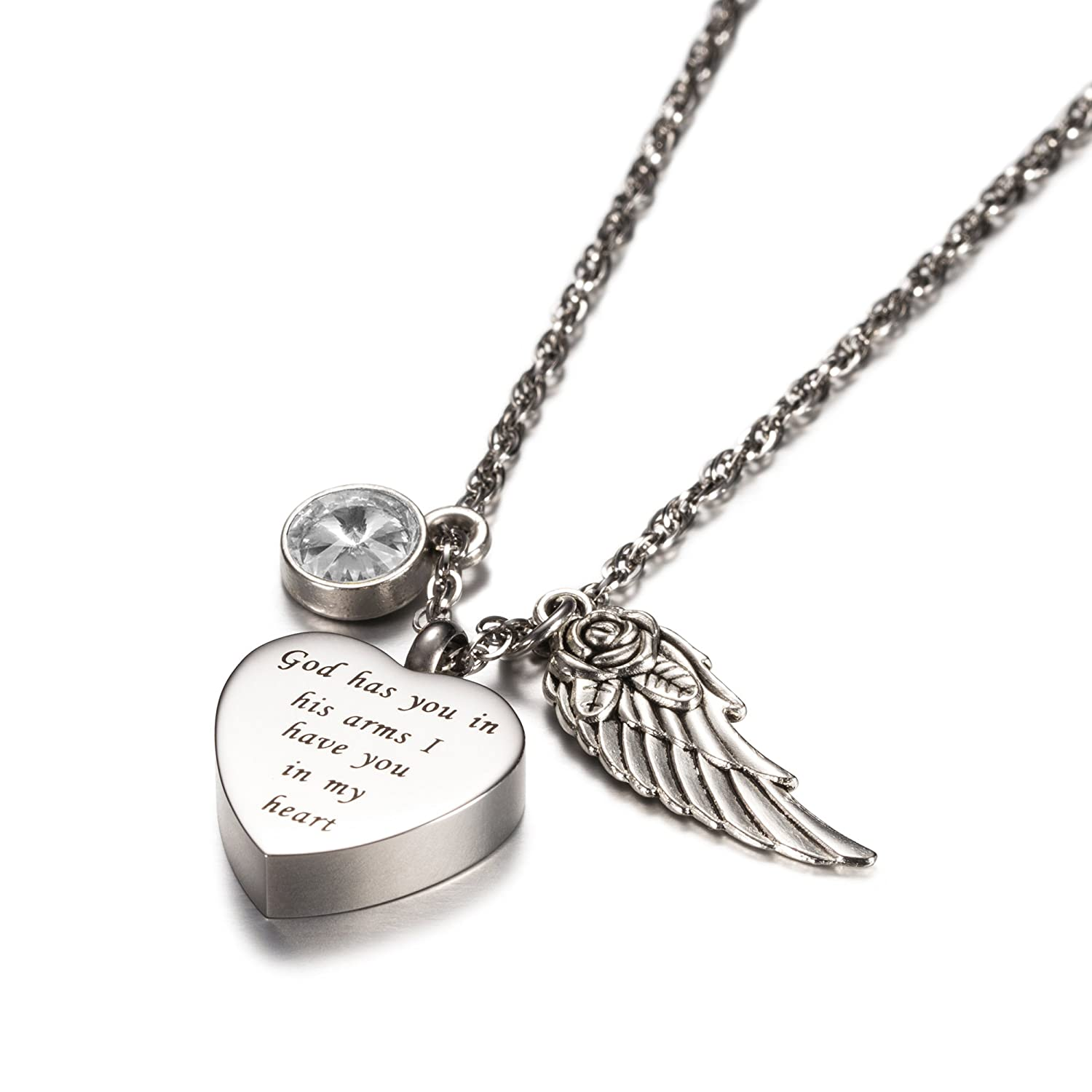 memorial shop pendant ash charm australia angel wings letter necklace jewellery with by original keepsake online locket in urn cremation for