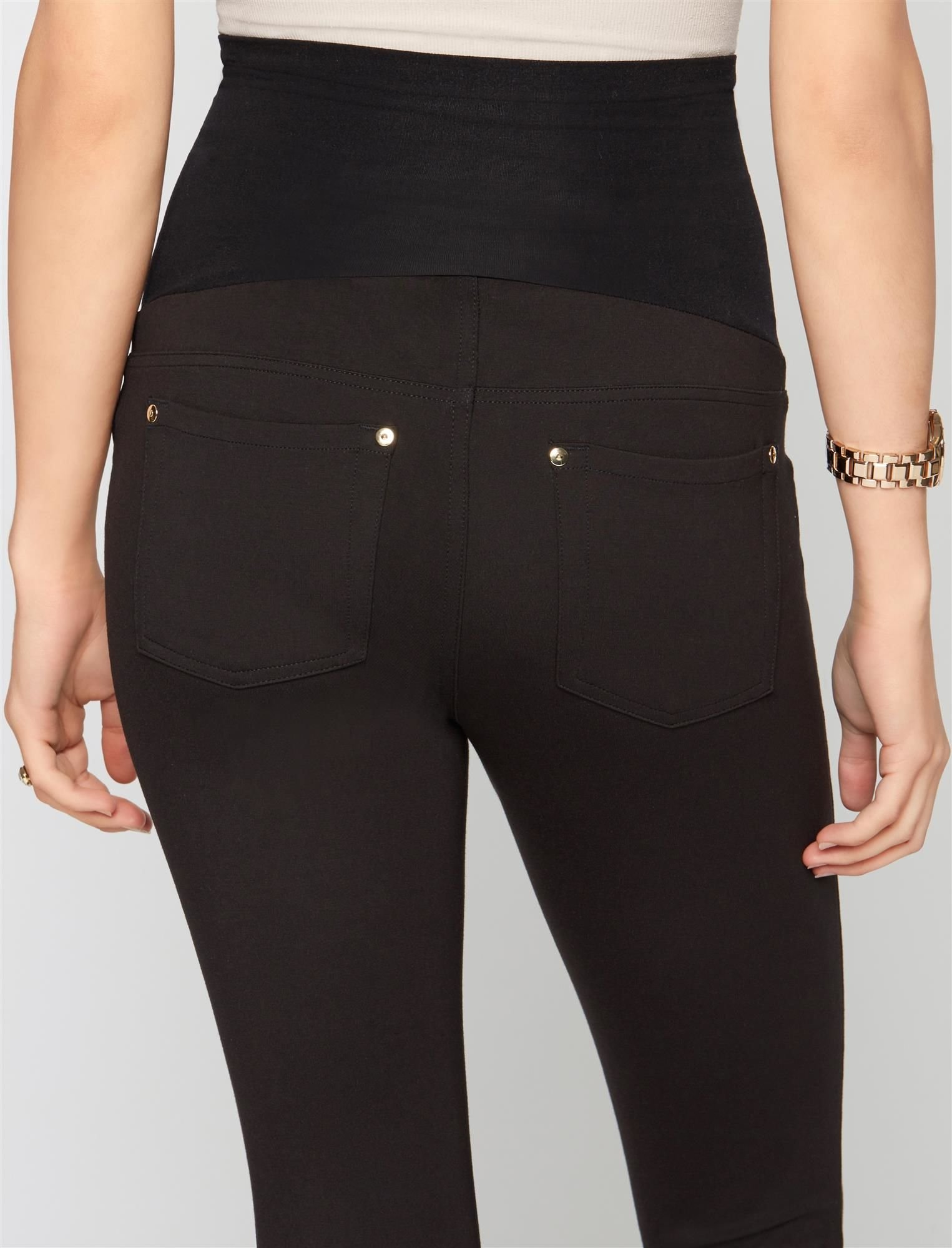 A Pea in the Pod Secret Fit Belly Ponte Skinny Maternity Pants by A Pea in the Pod (Image #5)