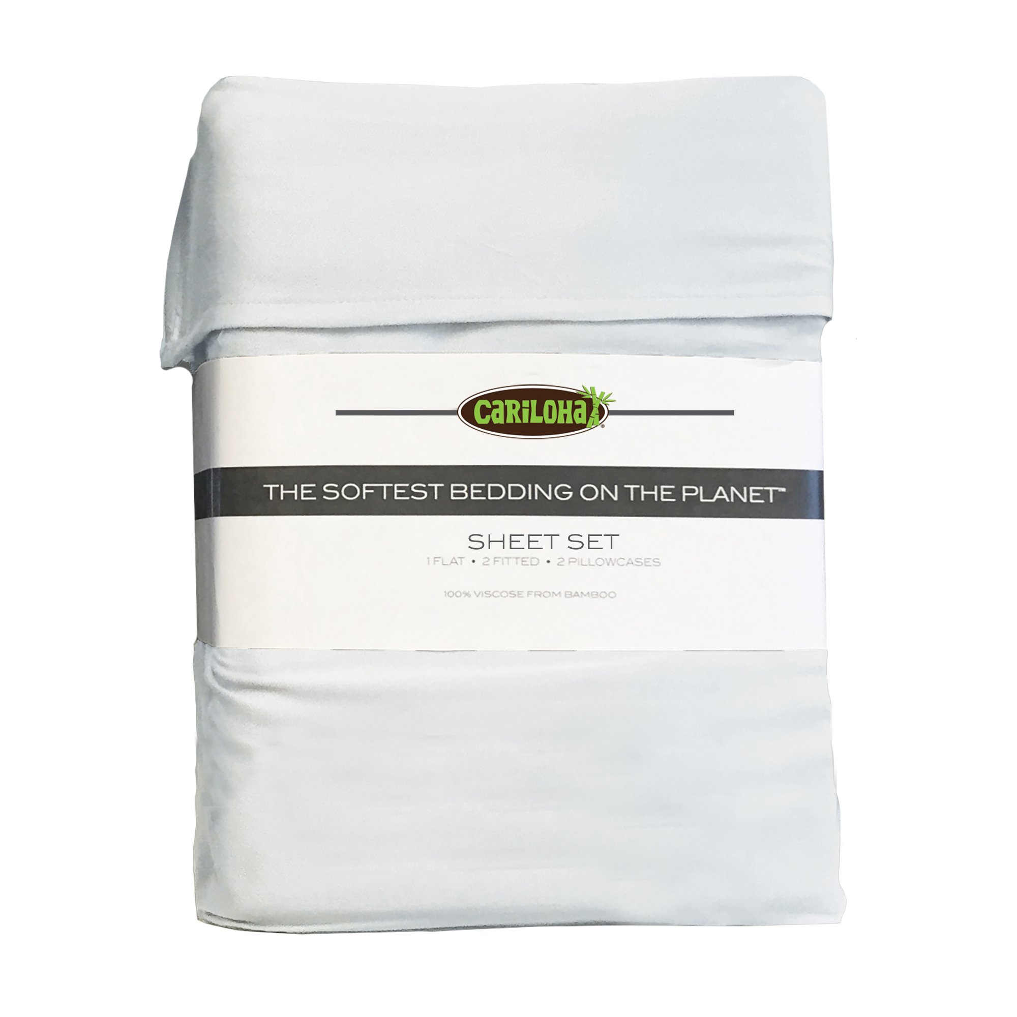 Classic Bamboo Sheets by Cariloha - 4 Piece Bed Sheet Set - Softest Bed Sheets and Pillow Cases - Lifetime Protection (Queen, White) by Cariloha (Image #3)
