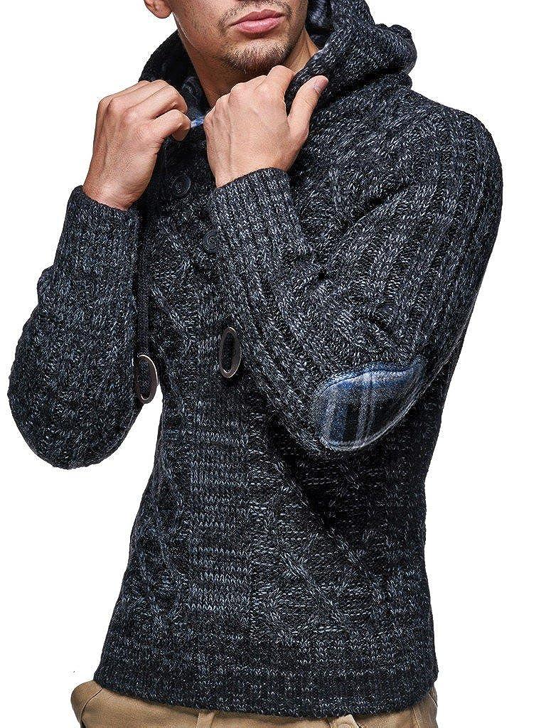 LEIF NELSON Herren Herren Herren Pullover mit Kapuze Slim Fit Longseleeve   Schwarzer Männer Strickpullover - Sweatshirt - Winterpullover   Kapuzenpullover - Hoodie Pulli Langarm   LN10346N B015NM2NFY Pullover Preisrotuktion 92357b