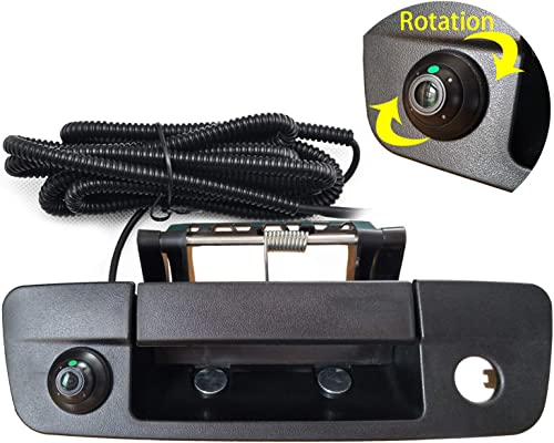 Dodge Ram Back Up Camera Rear View Camera Tailgate Handle Replace Camera Fit for Years 2013-2018,Tailgate Door Handle Replacement Camera for Dodge Ram 1500 2500 3500