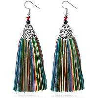 Bijoux Femmes, Toamen Boucles d'oreilles Boucles d'oreilles pompon Magnifiques bijoux strass Rétro Mode