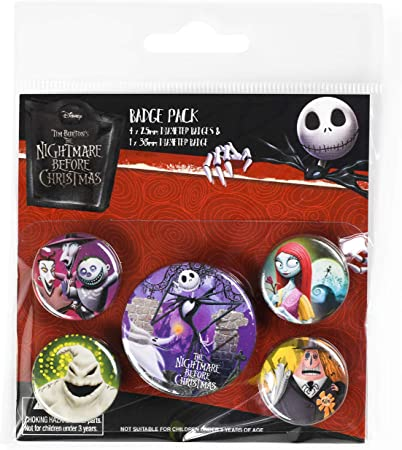 Pack Disney The Nightmare Before Christmas - Chapas Characters ...