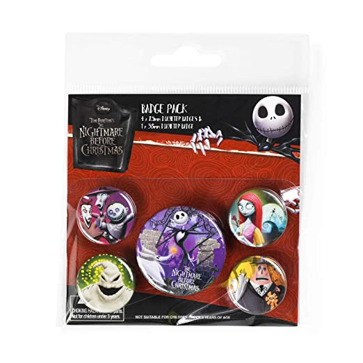 Pyramid International Pack Disney The Nightmare Before Christmas - Chapas Characters