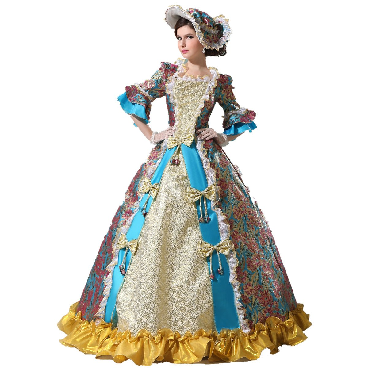 Xnaihuafei Women\'s Luxury Medieval/Renaissance Colonial Belle Queen ...