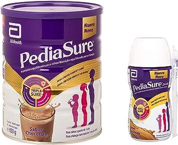 PediaSure Pack de 2 Complemento Alimenticio para Niños con Proteínas, Vitaminas y Minerales, Sabor Chocolate - 850 gr + 4 x 200 ml: Amazon.es: Salud y cuidado personal